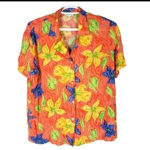 Vintage Braemar Jeremy Scott 80s Floral Sh…